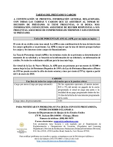Spanish Rates and Fees PDF